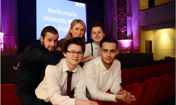 Graduating Film and TV production students. Copyright © Barry Pells